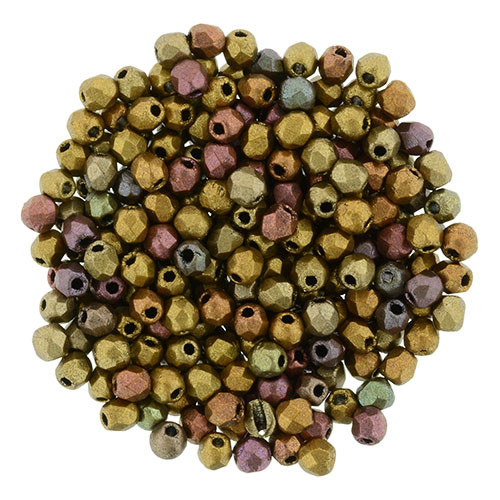 2mm Metallic Bronze Iris Fire Polish - 50pk