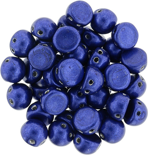 Czechmate Metallic Lapis Blue Cabochon
