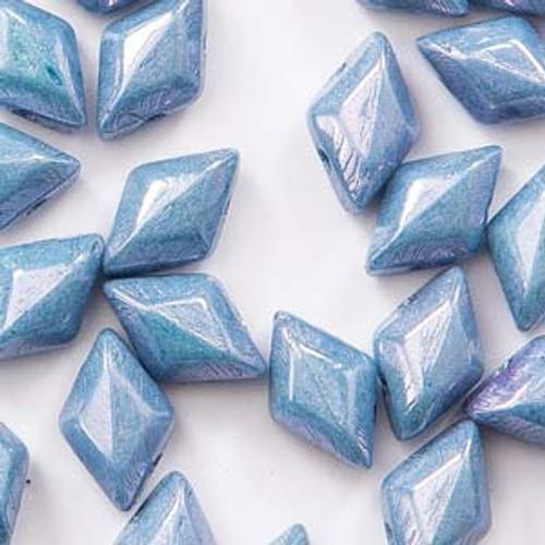 8 Grams 8x5mm Chalk Blue Luster Gemduo