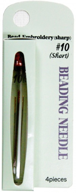 Tulip Size 10 Beading Needle (Short/Sharp) 4pc
