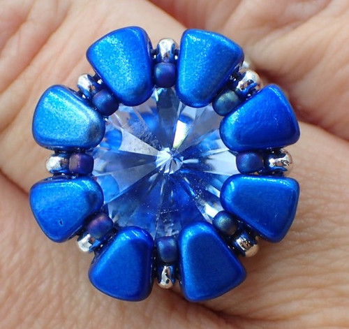 Double Daisy Ring Kit - Blue Color Scheme