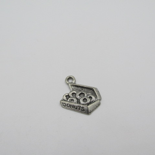 Box of Donuts Pewter Charm 2135