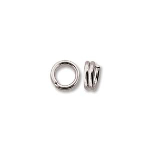 5mm Silver Plated Split Rings (20 Pack)