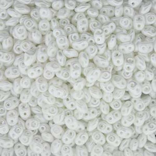 Pastel White Super Duo Beads