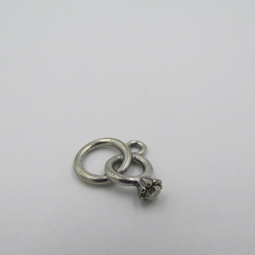 Wedding Rings Pewter Charm 3672