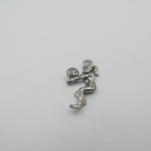 Vollyball Player Pewter Charm 2080