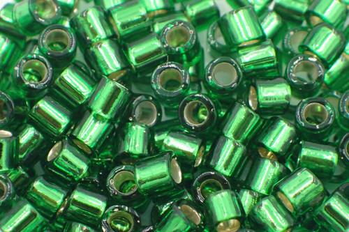 8/0 S/L Green Delica dbl-0046-tb