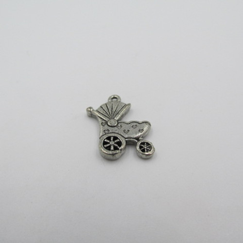 Baby Carriage Pewter Charm 1430