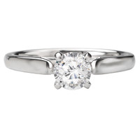 14KW CATHEDRAL SOLITAIRE RING D.50CT  CTR W/FDL