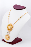 YELLOW GOLD NECKLACE, YG21KNECKLACE026, Size:Large, Weight:0g