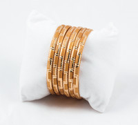 YELLOW GOLD BANGLES, SET OF 6, 21K, Size: , Weight: g, YGBANGL037