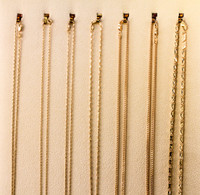 YELLOW GOLD CHAINS, YGCHAIN063, 21K, Size:Large Weight:0g