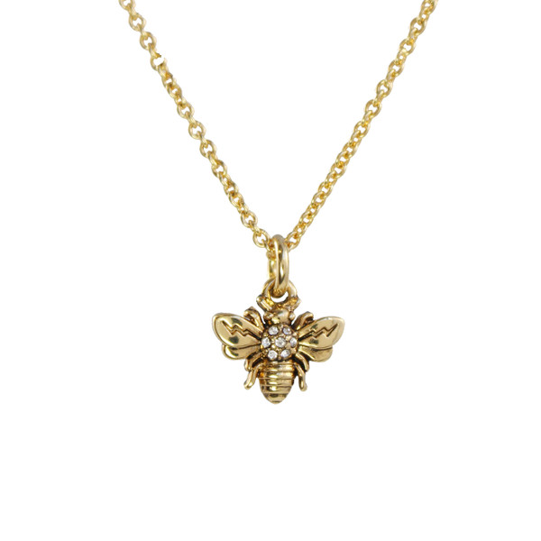 Dainty Gold Bee Necklace Wildflower Co