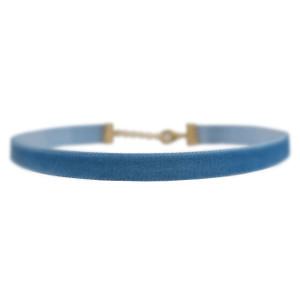 Velvet Choker Necklace, Blue