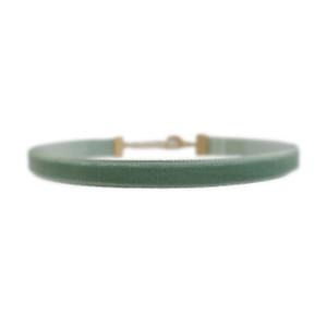 Velvet Choker Necklace, Sage