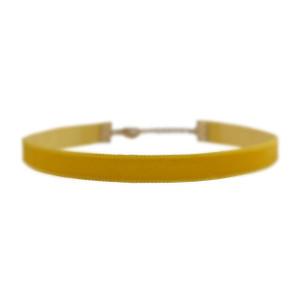 Velvet Choker Necklace, Sunflower