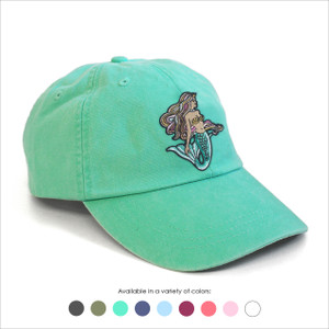 Mermaid Baseball Hat - Choose your hat color!
