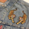 Climbing Tiger Patches - Embroidered Iron On Patch - Wildflower Co