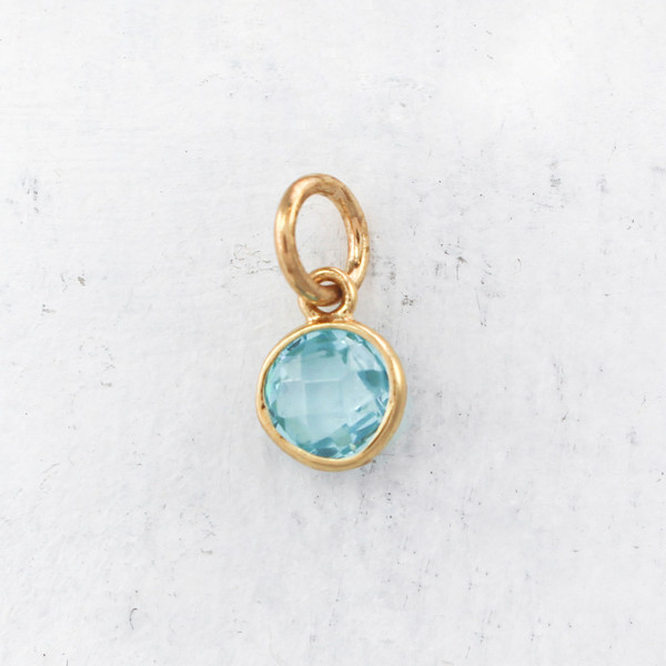 Birthstone charm pendant march aquamarine gold perfect for jw00206 march birthstone pendant charm synthetic aquamarine gemstone gold diy march birthstone jewelry necklace aloadofball Images