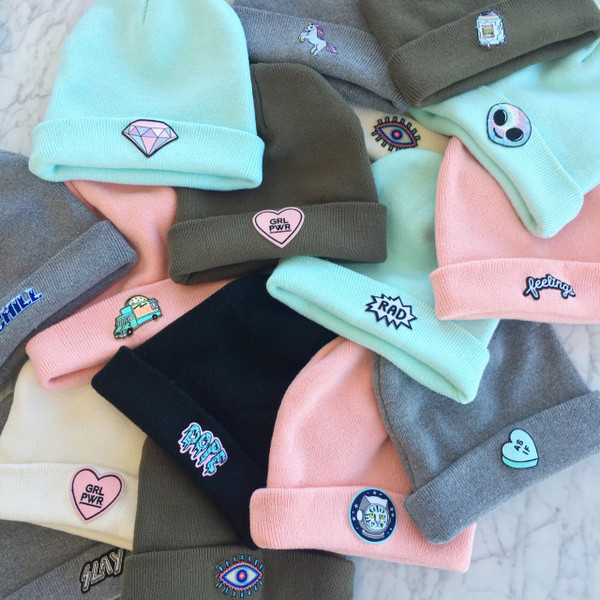 Beanie Hats Embroidery Wholesale Bulk Baby Beanie Hospital Hat White Blue  Pink Embroidery Blanks Wholesale Bulk ...