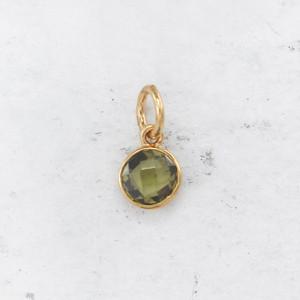 JW00206 Birthstone Peridot Light Green - August - Charm Pendant - Wildflower.Co - Main