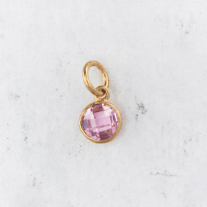 JW00206 JW00206 Birthstone Synthetic Gemstone Charm Pink Tourmaline 1 Main
