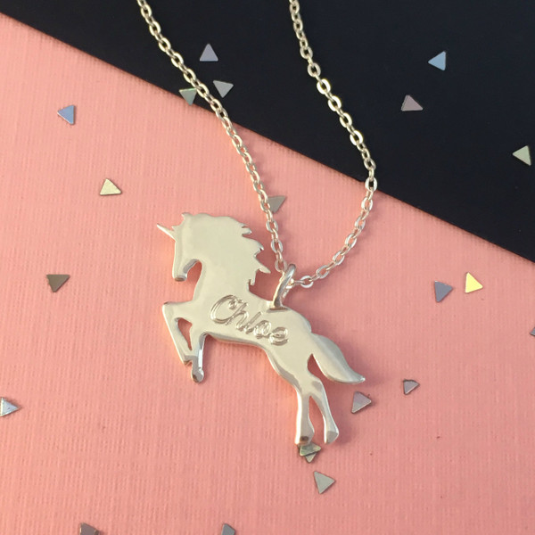 unicorn silver htm p cnr necklace sterling