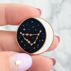 Constellation Enamel Pin - All Zodiac / Star Signs