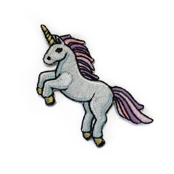 Unicorn iron on patch patches embroidered applique
