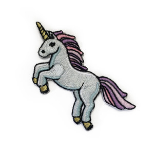 Unicorn Patch - Patches -  Iron On Patch - Embroidered Patch - Magical Patch - Gold Pastel Unicorn