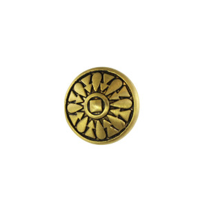 Antique Gold Button Closure for Leather Wrap Bracelets
