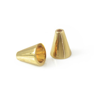 Gold Bead Caps Cone Beads - Jewelry Making - Wildflower + Co.