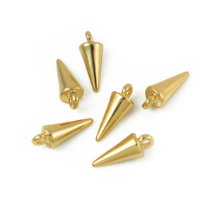 Gold Spike Charms - Jewelry Findings - Wildflower + Co.