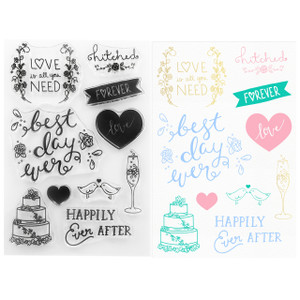 DIY Wedding Clear Stamps -  Best Day Ever Stamps - Stamping & Papercraft Supplies - Wildflower + Co.