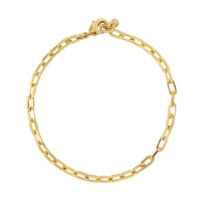 Box Chain Bracelet, Gold Modern Charm Bracelet - Wildflower + Co.