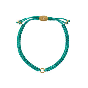 Macrame Friendship Charm Bracelet Turquoise Gold - Wildflower + Co.