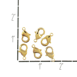 Findings - Lobster Claws, Large - Polished Gold