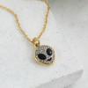 Alien Charm Pendant - Black Diamond - Hematite - Wildflower Co