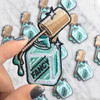 TR00103AQAOS Nail Polish Aqua Iron On Patch -Wildflower Co