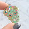 JW00348 Sugar Skull Enamel Pin - Flair - Lapel - Wildflower Co -  (2)