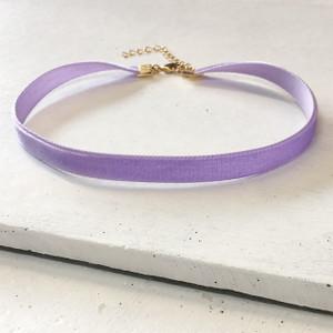 Velvet Choker Necklace - Pastel Lilac & Gold - Lavender - Purple - Wildflower + Co