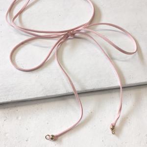 Wrap Necklace - Bolo - Bolero - Blush Pink - Mannequin