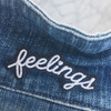Feelings Patch Iron On Feel Sad Girl Black White Wildflower Co (4)