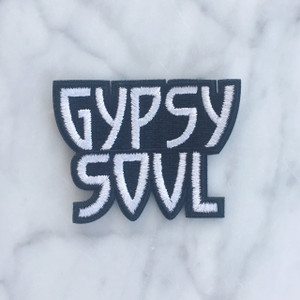TR00119-MLT-OS-R Gypsy Soul Patch  Embroidered Patches Iron On - Black White - Vibes Warrior - Wildflower Co  (3)