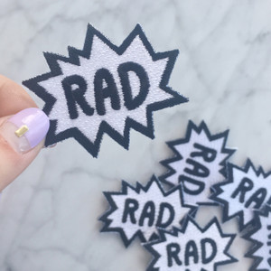 TR00118-MLT-OS-R RAD Patch Iron On Patches Embroidered - Black White - Wildflower Co (4)