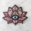 TR00133MLTOS Lotus Patch - Iron On Patches - Embroidered - Mystical Evil Eye Moon Symbols - Blush Pink - Wildflower + Co (10)