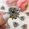TR00141MLTOS Bee Patch - Bumblee Bee - Iron On Patches - Dainty - Wildflower + Co