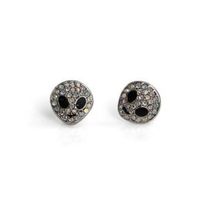 Alien Stud Earrings   Iridescent Silver   Wildflower + Co.