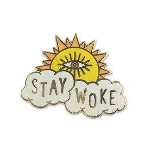 Stay Woke Pin | Enamel Pin | Wildflower + Co.
