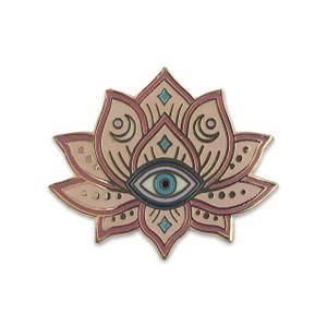 Mystical Lotus Pin | Blush Pink & Gold | Wildflower + Co.